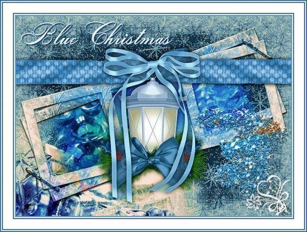 Noël  .. en Bleu  ... Belle image