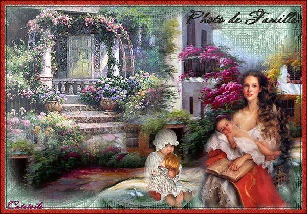 Fête des mères ... Belle image chez mon amie Catestrelia