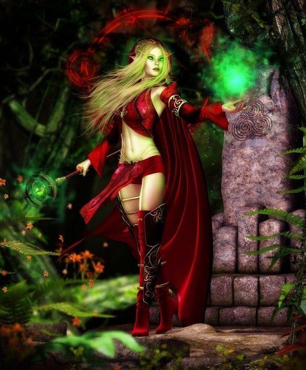 Rouge  ... Belle image   Elfe