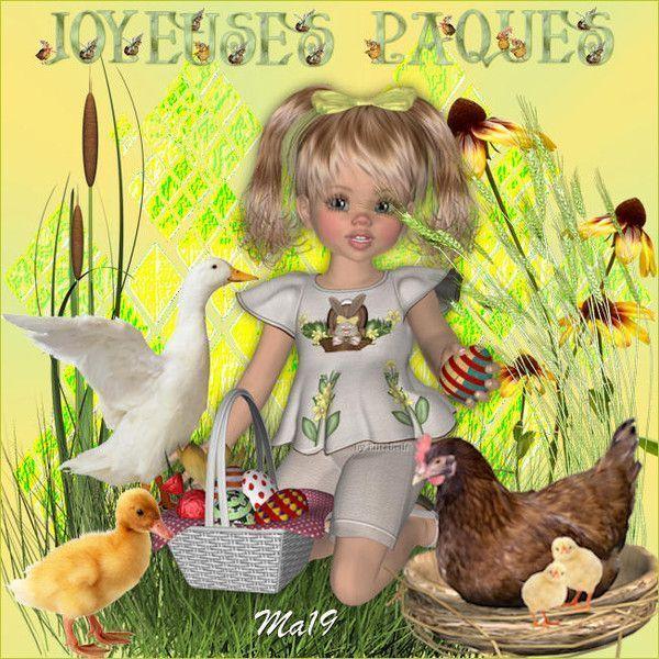 Pâques ... Belle image chez mon amie Maryse
