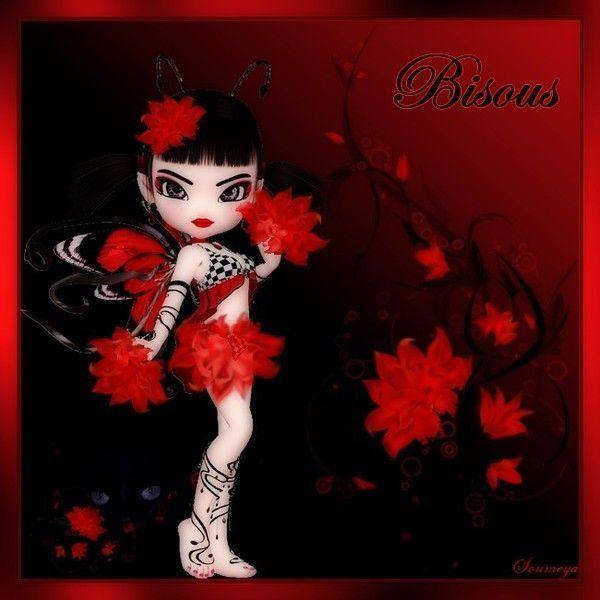 Rouge  .. Belle image  Bisous ...