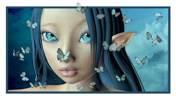 Bleu ... Belle image  ... Elfe