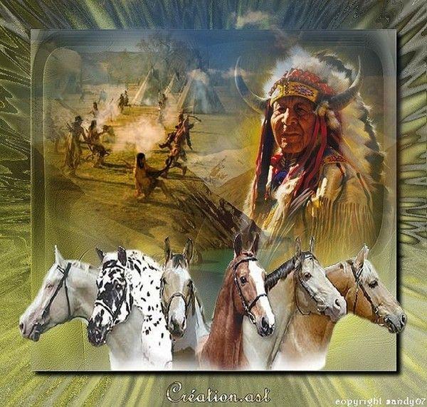 Amérindiens ... Belle image chez mon amie Sandy