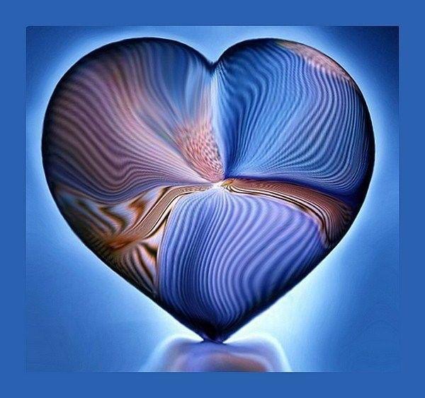 Bleu ... belle image .. coeur