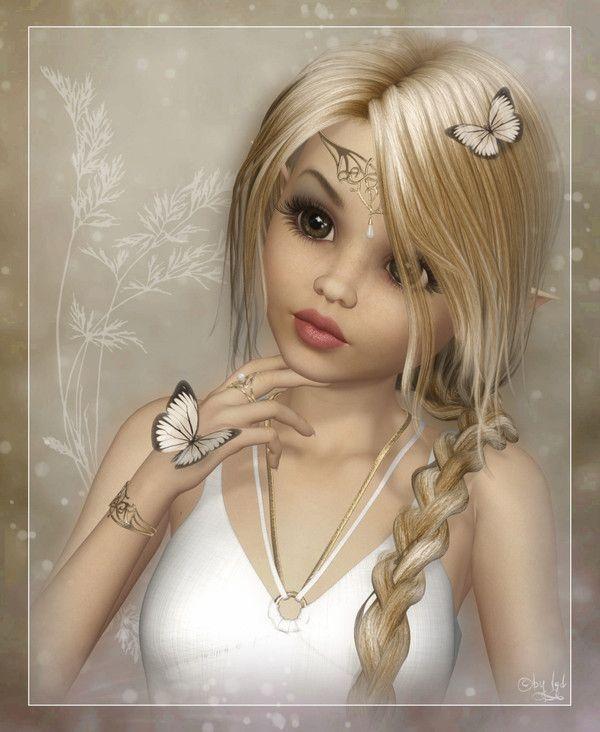 Blanc ... Belle image  ... Elfe