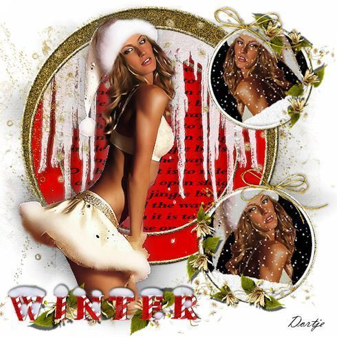 Hiver ... en rouge  ... Belle image