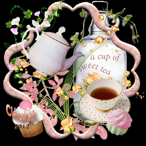 Un p'tit thé  avec popine Cléo  :-))))