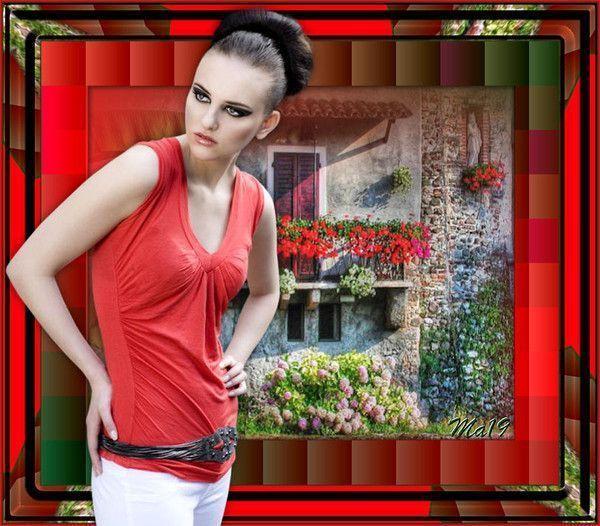 Rouge  ... Belle image chez mon amie Maryse