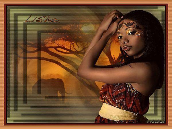 Afrique ... Belle image chez mon amie Catestrelia