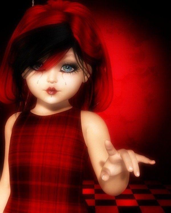 Rouge ... belle image .. Fillette ...