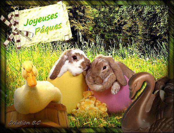 Pâques ... Belle image chez Cléophée