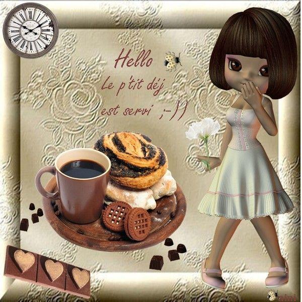 Bonjour ... le ti déj est servi ;-))))