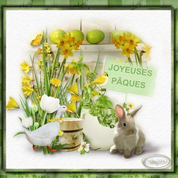 Pâques .. Belles images chez ma popine Kty