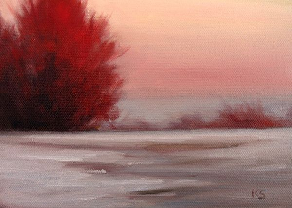 Hiver .. rouge  ... Paysage