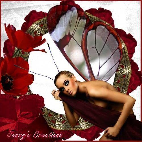 Rouge ... Belle image .. fée