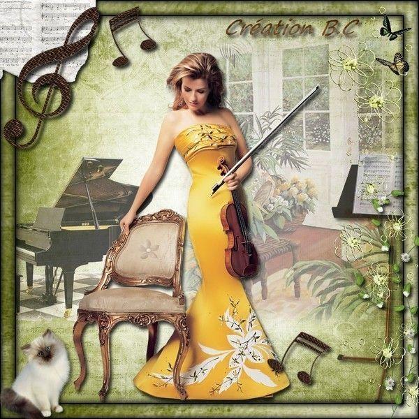 Musique ... Belle image chez ma popine Cleo