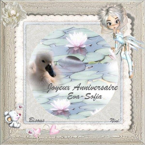 Joyeux anniversaire Eva-Sofia