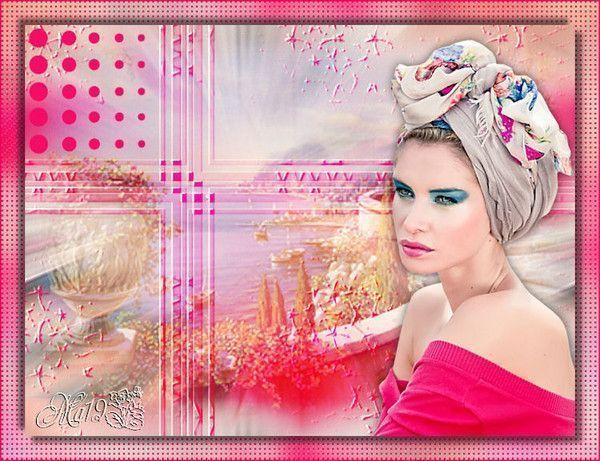 Rose ... Belle image chez mon amie Maryse
