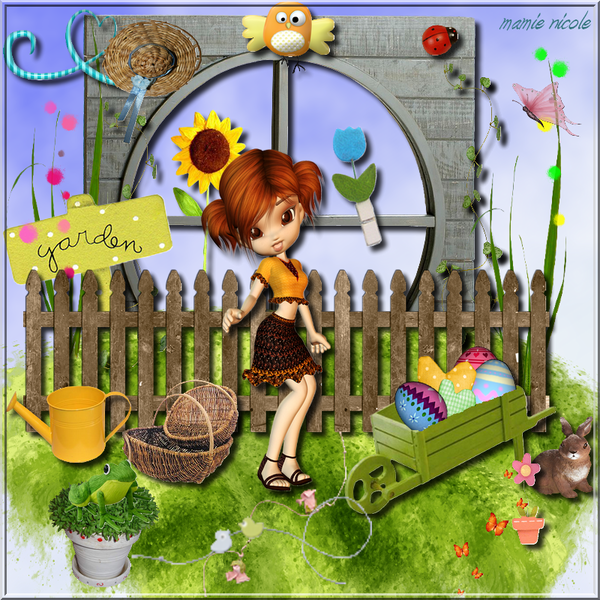 Pâques  ...  au jardin  ...