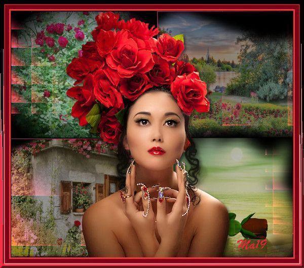 Rouge ... Belle image de mon amie Maryse