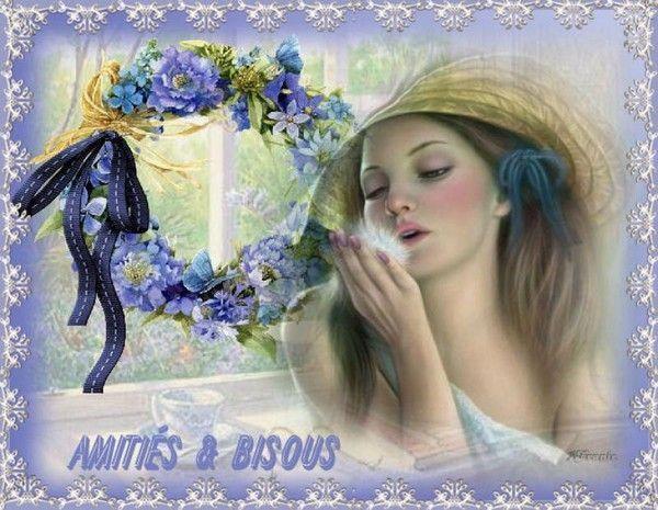 Bleu ... amitié  bisous