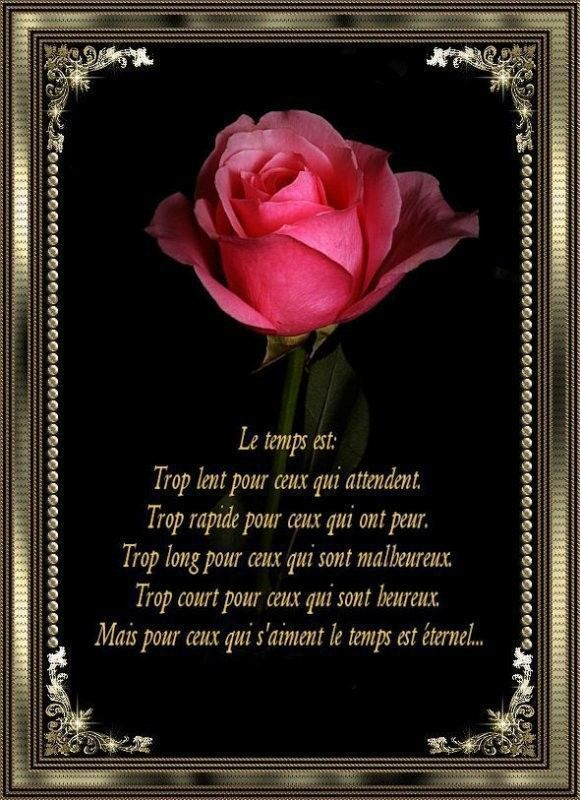 Citation ...  le temps ...