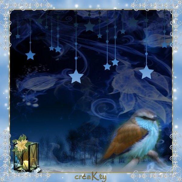 Noël .. en bleu .. chez Kty