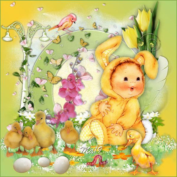 Pâques ... Belle image chez Maryse