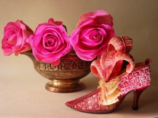 Rose  .... escarpin et roses  !!