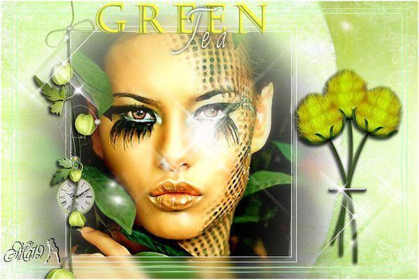 Vert ... Belle image chez mon amie Maryse