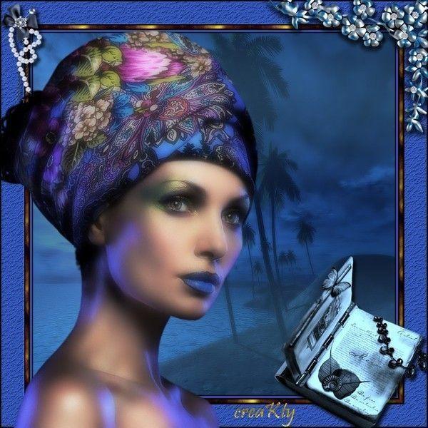 Bleu ... Belle image chez Kathania  ...