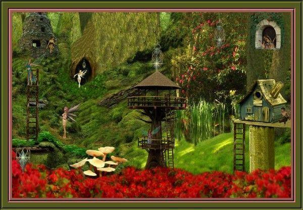 Imaginaire  ... village des fées