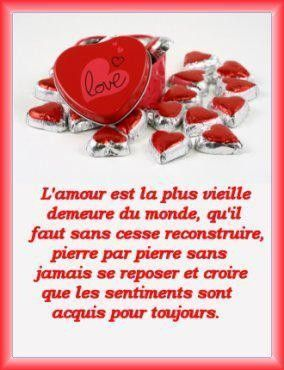 Amour  ....  citation