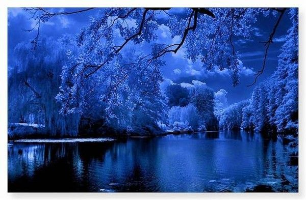 Bleu  ... Belle image  .. paysage
