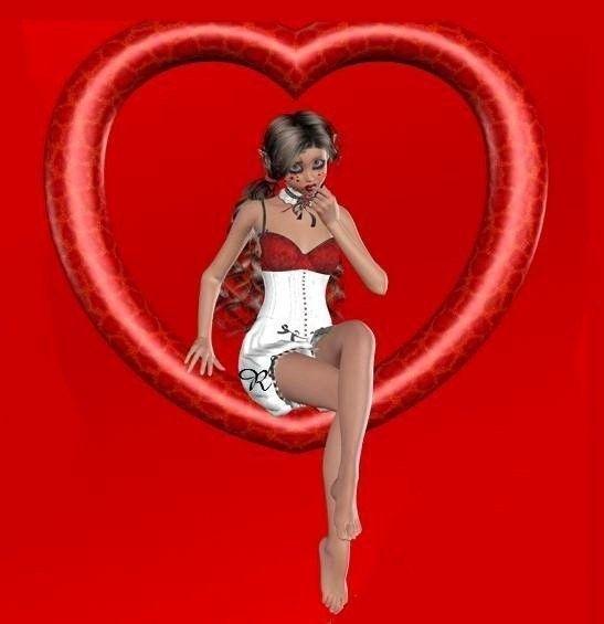 Rouge  ... belle image .. coeur