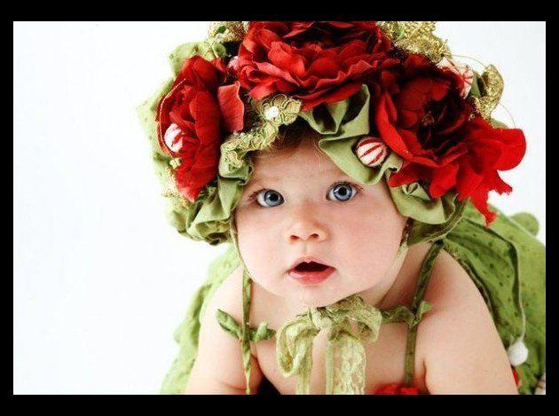bébé en fleur