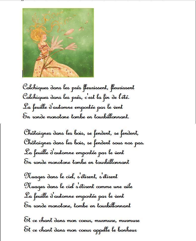 Automne page 20 - Colchique dans les pres ...